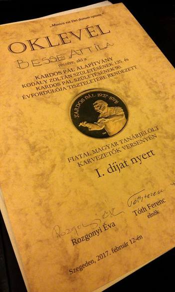 Kardos Pál karvezetői verseny – Besse Attila I. helyezés